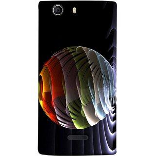 FUSON Designer Back Case Cover for Micromax Canvas 5 E481 (Red Bubbles Unique Whimsical Fantasy Fine Art Spots)