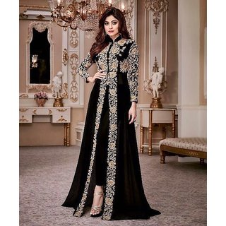 Buy Indian Sylish Designer Bollywood Pakistani Black Shamita Shetty