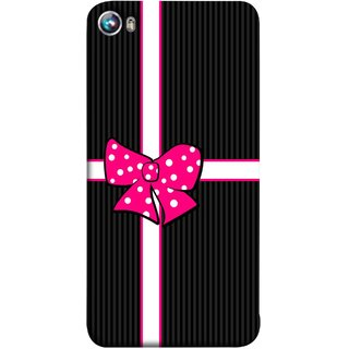 FUSON Designer Back Case Cover for Micromax Canvas Fire 4 A107 (Gift Box Wrapped In Black And White Striped Paper)
