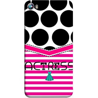 FUSON Designer Back Case Cover for Micromax Canvas Fire 4 A107 (Beautufil Actress Movies Bollywood Nice Pink Design Paper)
