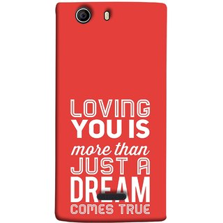 FUSON Designer Back Case Cover for Micromax Canvas 5 E481 (Comes True Love You Forever Valentine Couples Lovers)