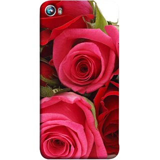 FUSON Designer Back Case Cover for Micromax Canvas Fire 4 A107 (Close Up Red Roses Chocolate Hearts For Valentines Day)