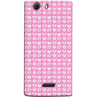 FUSON Designer Back Case Cover for Micromax Canvas 5 E481 (Valentine Pink Metallic Cool Peace Sign Symbol Pillow)