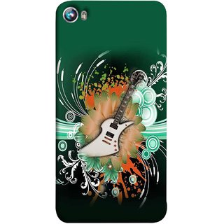 FUSON Designer Back Case Cover for Micromax Canvas Fire 4 A107 (Blue Backgound Florence Painting Wall Art Sticker)