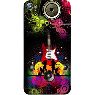 FUSON Designer Back Case Cover for Micromax Canvas Fire 4 A107 (Abstract Colorful Music Dance Background Design )