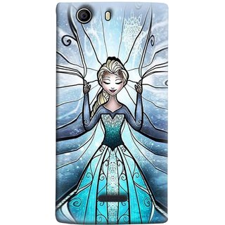 FUSON Designer Back Case Cover for Micromax Canvas 5 E481 (The Blue Rose Doll Baby Girl Nice Dress Long Hairs )