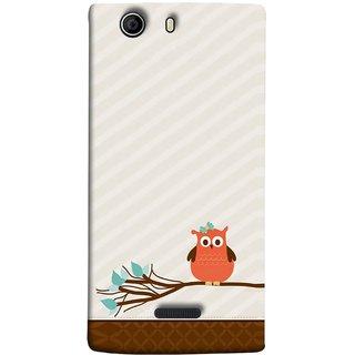 FUSON Designer Back Case Cover for Micromax Canvas 5 E481 (Birds Sitting Alone Waiting For Partner Leaves Leaf)