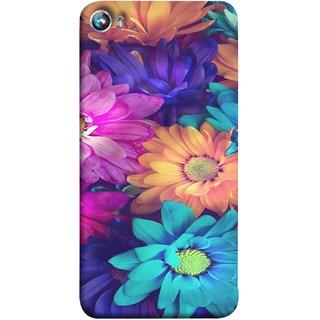 FUSON Designer Back Case Cover for Micromax Canvas Fire 4 A107 (Fresh Wow Hd Gerbera Flowers Pink Blur Orange)