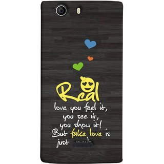 FUSON Designer Back Case Cover for Micromax Canvas 5 E481 (Real Love True False Love Words See It Show It )