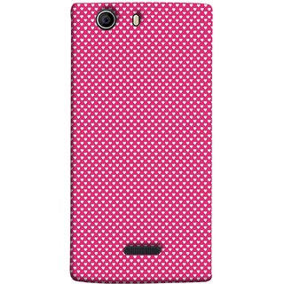 FUSON Designer Back Case Cover for Micromax Canvas 5 E481 (Valentine Pink Metallic Hearts Cool Peace Sign Symbol)