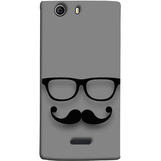 FUSON Designer Back Case Cover for Micromax Canvas 5 E481 (Mustache Glasses T-ShirtYoung Boys Back Cover)