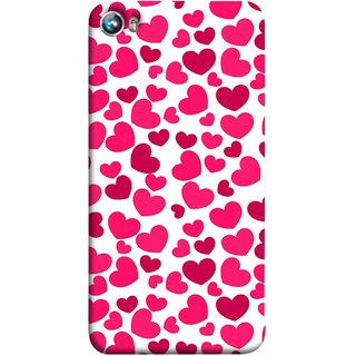 FUSON Designer Back Case Cover for Micromax Canvas Fire 4 A107 (Abstract Love Heart Background Lovers Valentine)