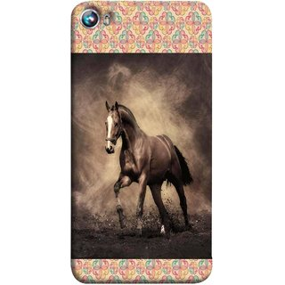 FUSON Designer Back Case Cover for Micromax Canvas Fire 4 A107 (Beautiful Horse Black And White Brown Canvas Wallpaper)
