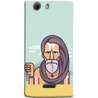 FUSON Designer Back Case Cover for Micromax Canvas 5 E481 (Himalaya Sadhu Kumbh Mela Beard Rudraksh Mala)