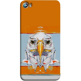 FUSON Designer Back Case Cover for Micromax Canvas Fire 4 A107 (Stearing Eyes Deadly Look Canvas Vision Bird Sky High)
