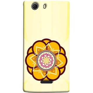 FUSON Designer Back Case Cover for Micromax Canvas 5 E481 (Best Rangoli Patterns Treditional Photo Wallpapers )