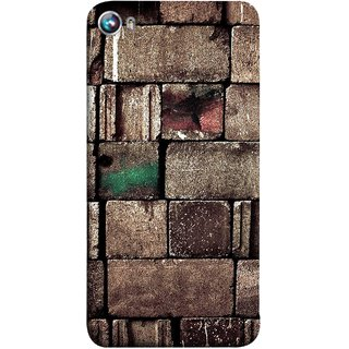 FUSON Designer Back Case Cover for Micromax Canvas Fire 4 A107 (Irregular Shapes Ancient Different Sizes Wallpaper)