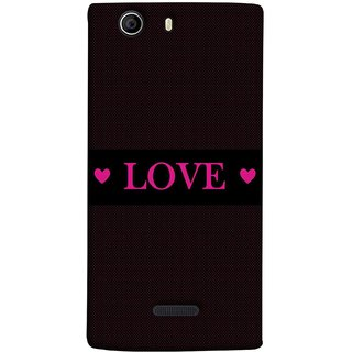 FUSON Designer Back Case Cover for Micromax Canvas 5 E481 (Best Gift For Valentine Friends Lovers Couples Baby Pink Red )
