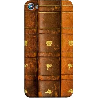 FUSON Designer Back Case Cover for Micromax Canvas Fire 4 A107 (Law Book Library Bookshelf Knowledge Reading Always)