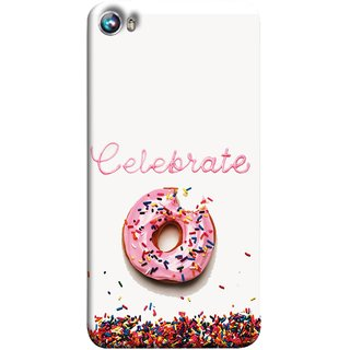 FUSON Designer Back Case Cover for Micromax Canvas Fire 4 A107 (Pink Donut Eating Lots Of Jellybeans Childrens Fevourite)