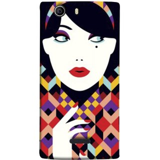 FUSON Designer Back Case Cover for Micromax Canvas 5 E481 (Beautiful Portrait Of A Young Enchanting Woman Face)