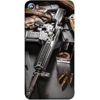 FUSON Designer Back Case Cover for Micromax Canvas Fire 4 A107 (Rounds Ammunition Bullets Guns Aurora Murders)