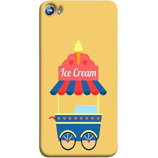 FUSON Designer Back Case Cover for Micromax Canvas Fire 4 A107 (Ice Cone Pineapple Flavour Wheels Hearts Shade )
