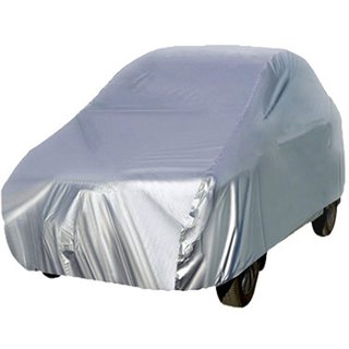 Hms Car Body Cover Without Mirror Pocket Uv Resistant For Indigo - Colour Silver