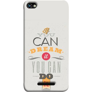 FUSON Designer Back Case Cover for Micromax CanvasHue2A316 (White Background Inspiration Quote Red Orange Font )