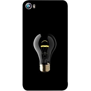 FUSON Designer Back Case Cover for Micromax Canvas Fire 4 A107 (Hanging Light Bulb In Dark Room Ceiling Darkness )