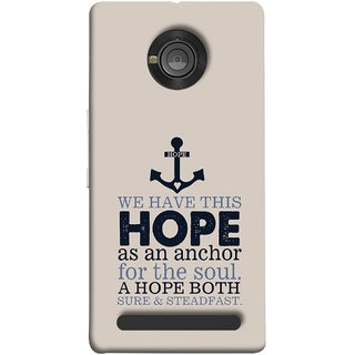 FUSON Designer Back Case Cover For YU Yunique (A Hope Both Sure And Steadfast Deep Sea Anchor Ship)