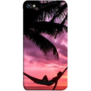 FUSON Designer Back Case Cover for Micromax CanvasHue2A316 (Sunset Beach Hammock Chillout Wallpapers Palmtrees)