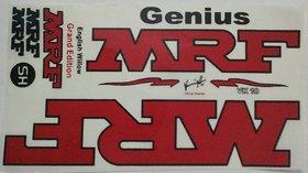 MRF Genius Cricket Bat Red Sticker
