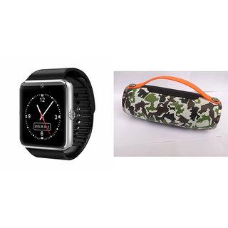 Zemini GT08 Smart Watch and Mini Xtreme K5 + Bluetooth Speaker for HTC DESIRE 610 DUAL SIM(GT08 Smart Watch with 4G sim card, camera, memory card |Mini Xtreme K5 +  Bluetooth Speaker  )