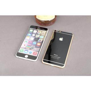 Black Tempered Glass Screen Guard / Protector For Apple iPhone 6 / 6s Front Back