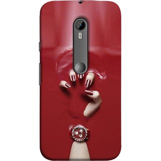 FUSON Designer Back Case Cover for Motorola Moto G Turbo Edition :: Virat FanBox Moto G Turbo Virat Kohli (Lady Hand With Maroon Watch Nail Polish )