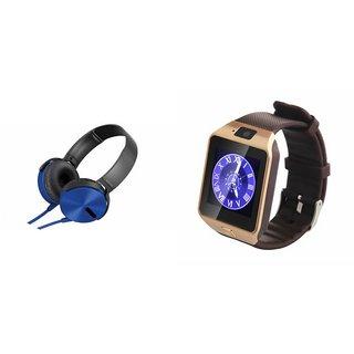 Zemini DZ09 Smartwatch and Extra Extra Bass XB450 Headphone for SONY xperia z3.(DZ09 Smart Watch With 4G Sim Card, Memory Card| Extra Extra Bass XB450 Headphone)