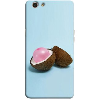 FUSON Designer Back Case Cover for Oppo F1s (Coconut Bubble Baloon White Coconut Brown Shell)