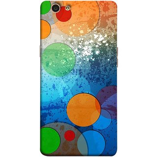 FUSON Designer Back Case Cover for Oppo F1s (Lot Small Big Circles Glass Door Table )