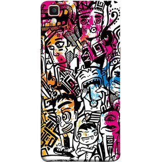 FUSON Designer Back Case Cover for Oppo F1 Plus :: Oppo R9 (Many People Mob Looking Shouting Laughing Stars )