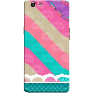 FUSON Designer Back Case Cover for Oppo F1s (Paper Sheet Design Perfect Back Cover Saree Suits Women Girls )