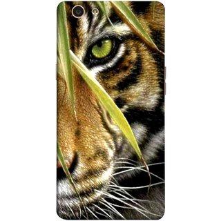 FUSON Designer Back Case Cover for Oppo F1s (Animal Bengal Indian Jungle King Whiskers Grass)