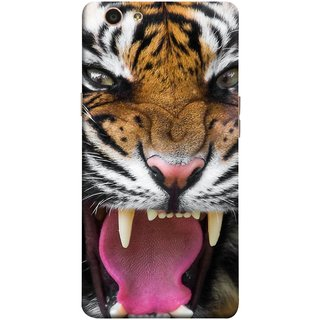 FUSON Designer Back Case Cover for Oppo F1s (Jungle King Stearing Angry Roaring Loud Aslan )