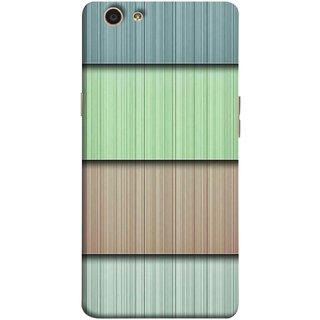 FUSON Designer Back Case Cover for Oppo F1s (Strips Green Gray Sunmica Plywood Back Art)
