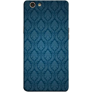 FUSON Designer Back Case Cover for Oppo F1s (Blue Artwork Student Spots Amazing Plywood Table Cloth)