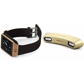 Zemini DZ09 Smart Watch and Gibox G6 Bluetooth Speaker for HTC DESIRE 709D(DZ09 Smart Watch With 4G Sim Card, Memory Card| Gibox G6 Bluetooth Speaker)
