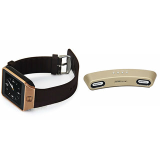 Zemini DZ09 Smart Watch and Gibox G6 Bluetooth Speaker for MICROMAX CANVAS AMAZE 4G(DZ09 Smart Watch With 4G Sim Card, Memory Card| Gibox G6 Bluetooth Speaker)