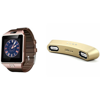 Zemini DZ09 Smart Watch and Gibox G6 Bluetooth Speaker for MICROMAX CANVAS PLAY.(DZ09 Smart Watch With 4G Sim Card, Memory Card| Gibox G6 Bluetooth Speaker)