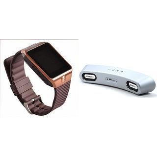 Zemini DZ09 Smart Watch and Gibox G6 Bluetooth Speaker for XOLO X1000(DZ09 Smart Watch With 4G Sim Card, Memory Card| Gibox G6 Bluetooth Speaker)