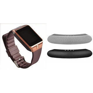 Zemini DZ09 Smart Watch and Gibox G6 Bluetooth Speaker for HTC ONE M8 DUAL SIM(DZ09 Smart Watch With 4G Sim Card, Memory Card| Gibox G6 Bluetooth Speaker)